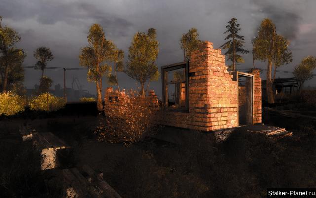 Руины на рассвете